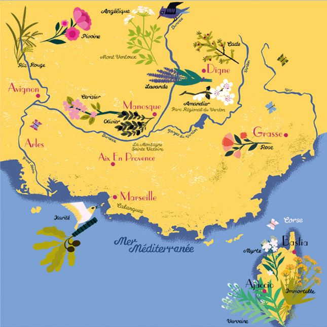 Provence Map Of France.Provence Map The French Traveler
