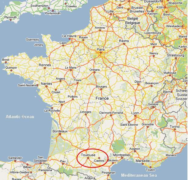 Toulouse map The French Traveler